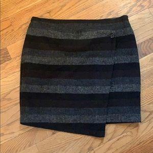 Tulle new gray black mini skirt medium